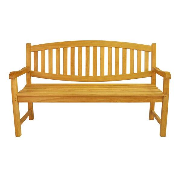 Kassandra 3-Seater Teak Garden Bench by Rosalind Wheeler