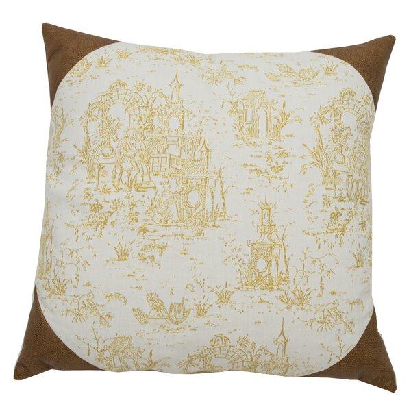 Down Indoor/Outdoor Toile Throw Pillow