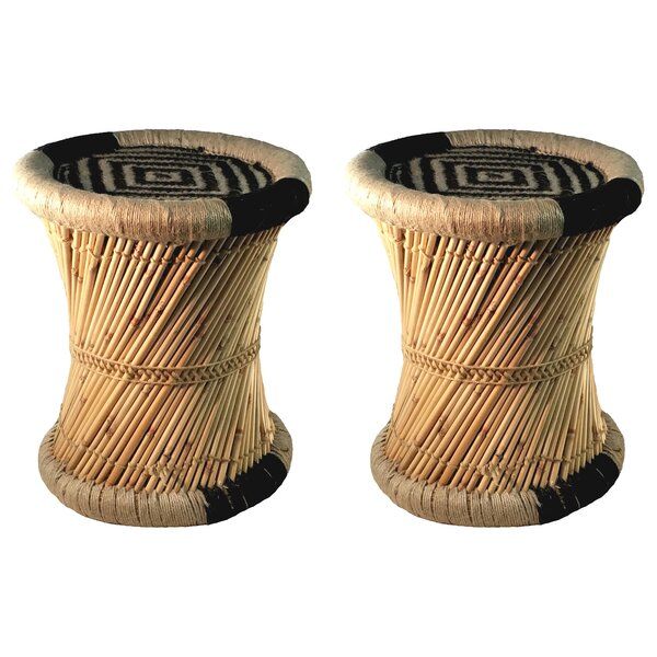 Moray Decorative Jute Accent Stool (Set of 2) by Natural Geo