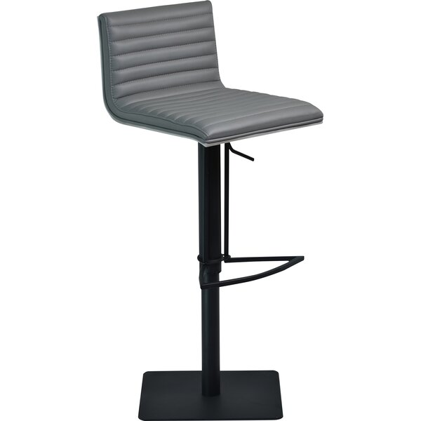 Burwell Adjustable Height Swivel Bar Stool by Orren Ellis