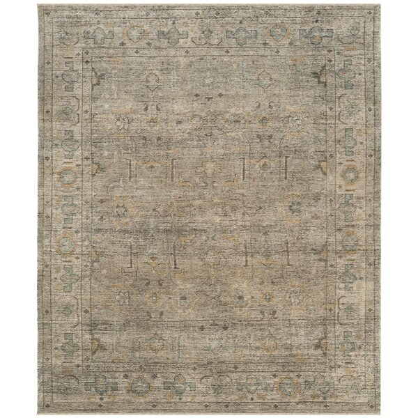 Kline Hand-Knotted Wool Linen Area Rug by Bungalow Rose