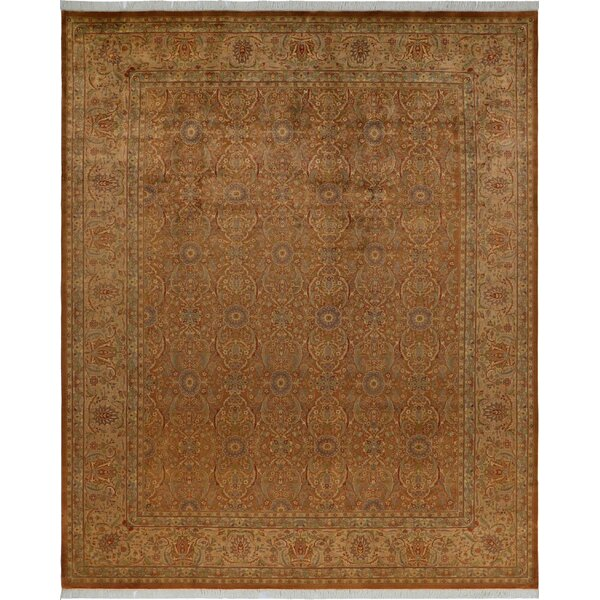 One-of-a-Kind Aaru Hand-Knotted Wool Light Brown/Light Tan Area Rug by Isabelline