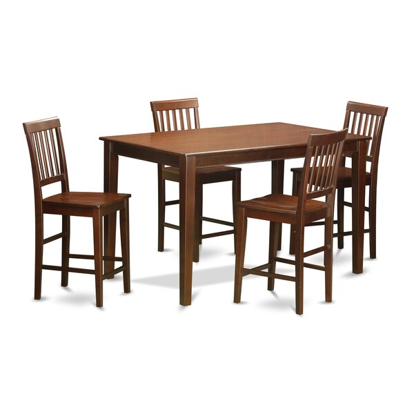 5 Piece Counter Height Dining Set by Wooden Importers