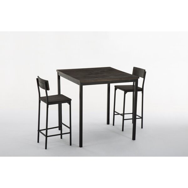 Bushman 3 Piece Pub Table Set by Williston Forge