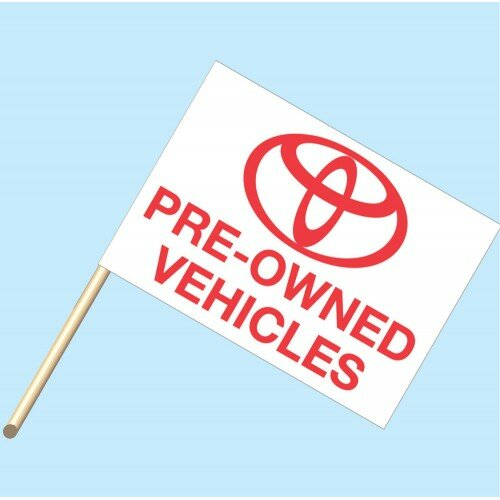 Toyota Pre Owned Vehicle Polyester Flag by NeoPlex