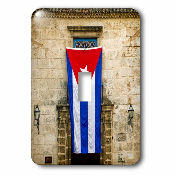 Plaza De La Catedral, Old Havana, Cuba 1-Gang Toggle Light Switch Wall Plate by 3dRose