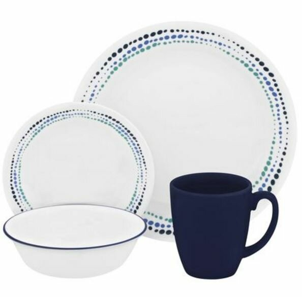 Livingware 16 Piece Dinnerware Set, Service for 4