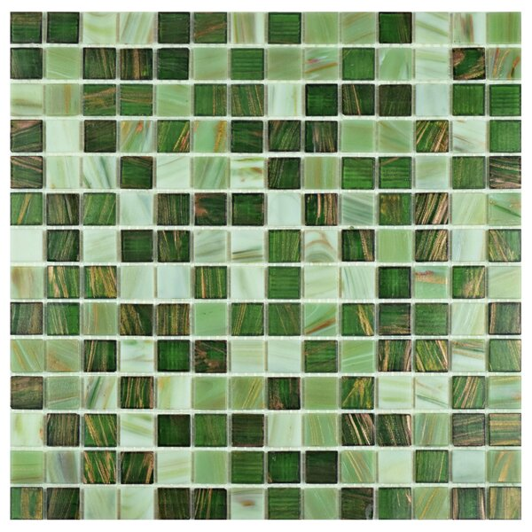 Fused 0.75 x 0.75 Glass Mosaic Tile in Forest Green by EliteTile
