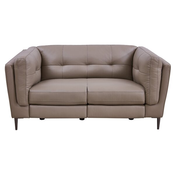 Looking for Goodner Leather Reclining Loveseat By Latitude Run Modern