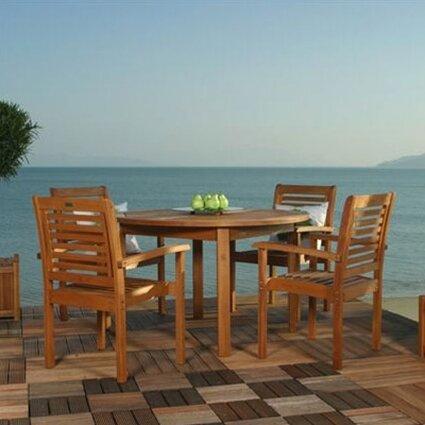 Flinn Milano 5 Piece Dining Set by Beachcrest Home