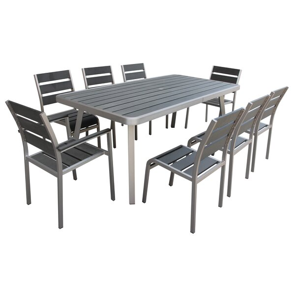 Santorini 9 Piece Dining Set by Boraam Industries Inc