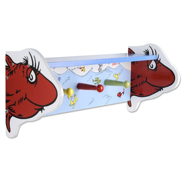 Dr. Seuss One Fish Two Fish Shelf with Pegs by Tre