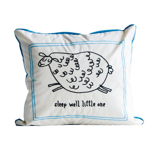 Hylan Sleep Well Little One Cotton Throw Pillow by Harriet Bee
