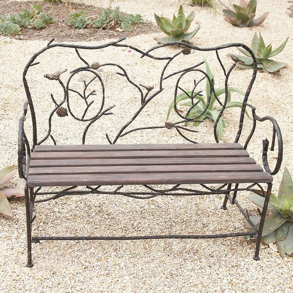 Entryway Iron Garden Bench by Cole & Grey