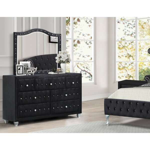 Hosler 7 Drawer Dresser with Mirror by House of Hampton