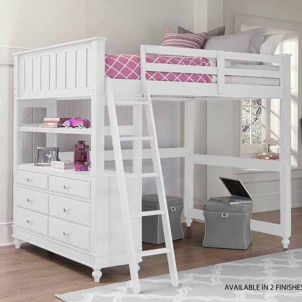Weatherspoon Twin Loft Bed with Drawers by Viv + Rae