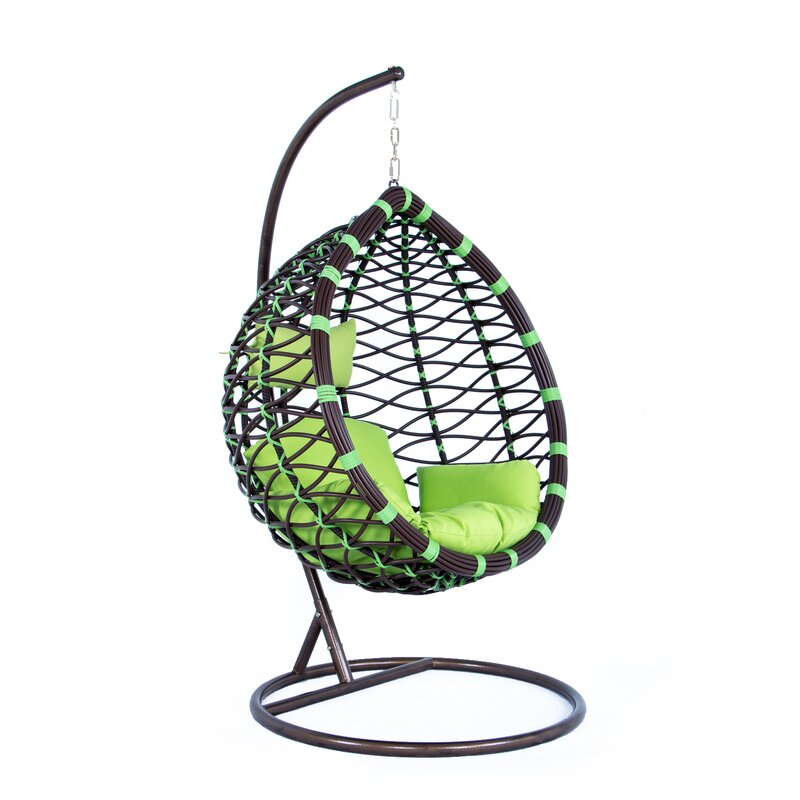 Bayou Breeze Schwartz Wicker Hanging Egg Swing Chair with ...