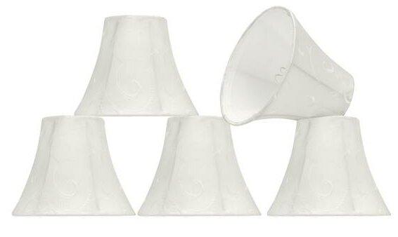 6 Silk Bell Candelabra Shade (Set of 5) by Aspen Creative Corporation