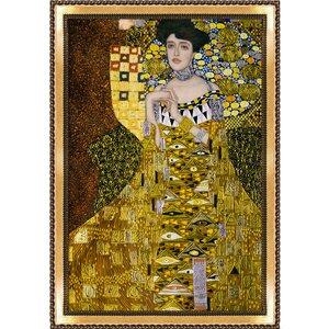 Portrait of Adele Bloch Bauer I, Metallic Embellished by Gustav Klimt Framed Painting by Tori Home