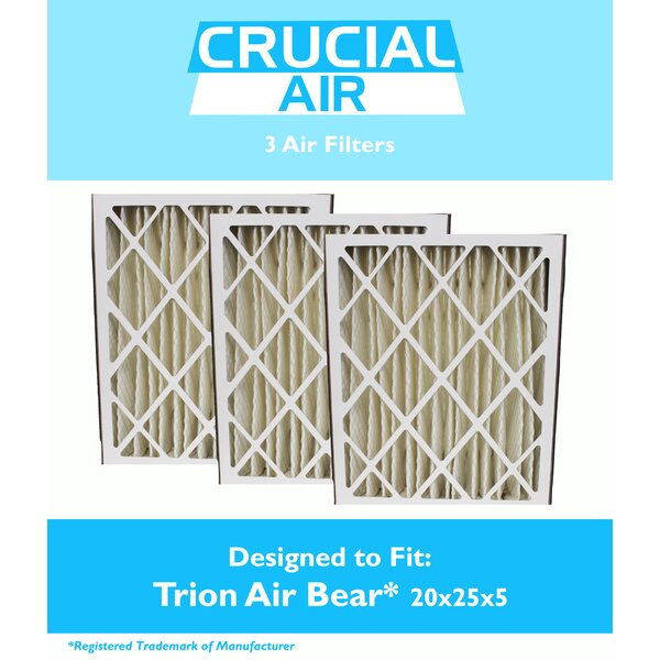 Trion Bear Air Filter (Set of 3) by Crucial