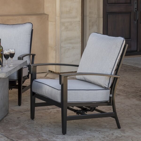 Duncombe Motion Patio Chair with Sunbrella Cushions (Set of 2) by Darby Home Co