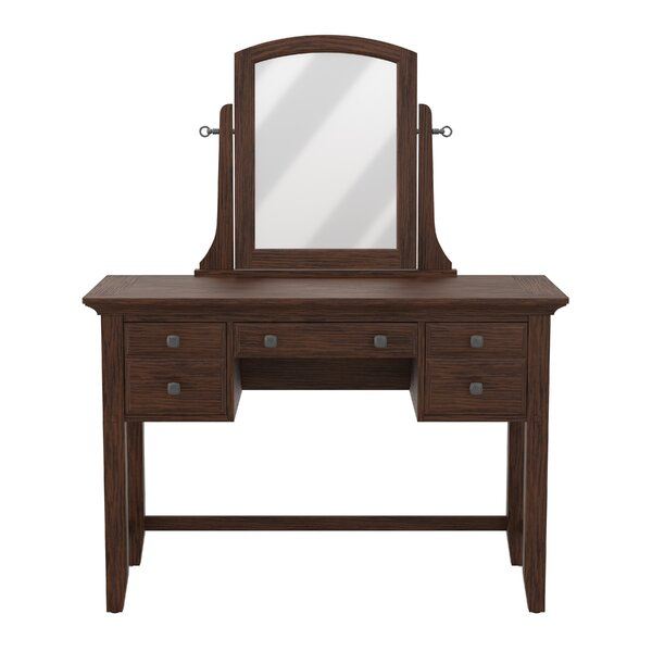 Moradian Modern Vanity with Mirror by August Grove
