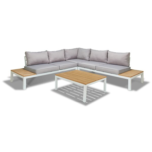 Shively 4 Piece Sectional Set by Orren Ellis