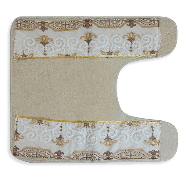 Mckelvy Cotton Blend Non-Slip Floral Contour Mat