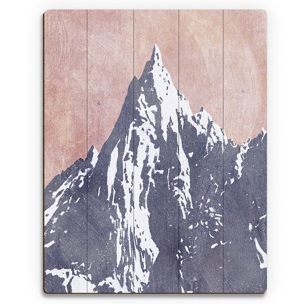 Mountain Peak Dusk Painting Print on Plaque by Click Wall Art