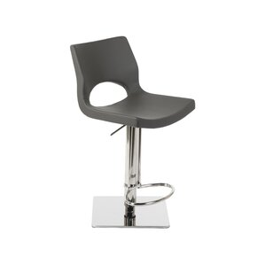 Ascella Modern Adjustable Height Swivel Bar Stool by Orren Ellis