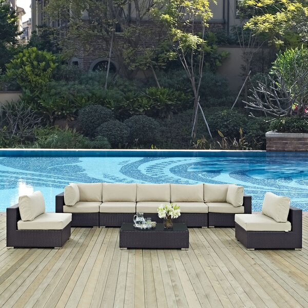 Brentwood 8 Piece Rattan Sectional Seating Group with Cushions by Sol 72 Outdoor Sol 72 Outdoor
