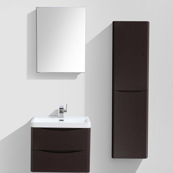 Mancini 24 Single Bathroom Vanity Set with Mirror by Orren Ellis