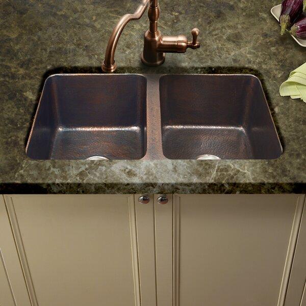 Hammerwerks 34.25 L x 21 W ChaletChef Double Bowl Kitchen Sink by Houzer