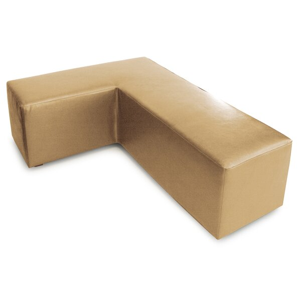 L Shape Faux Leather Box Cushion Ottoman Slipcover By Orren Ellis