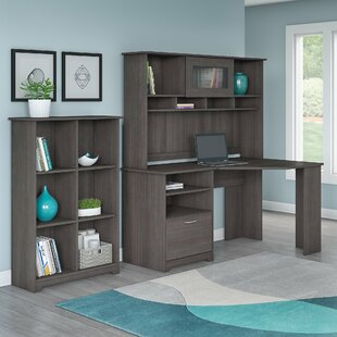 Hillsdale Corner Desk with Hutch and 6 Cube Bookcase