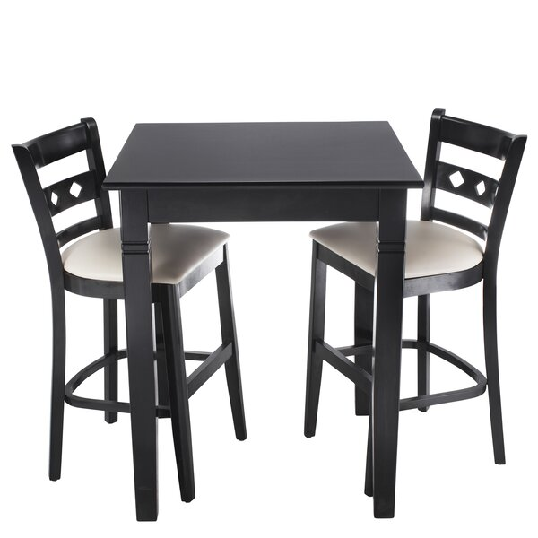 Ewell 3 Piece Counter Height Pub Table Set by Red Barrel Studio Red Barrel Studio