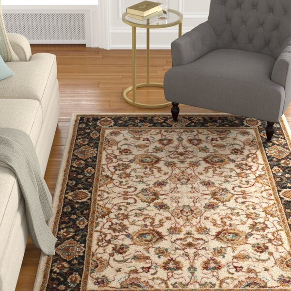 Lowe Beige/Brown Area Rug by Charlton Home