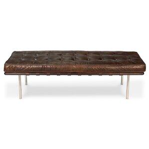 Prince Albert Leather Bench by Sarreid Ltd
