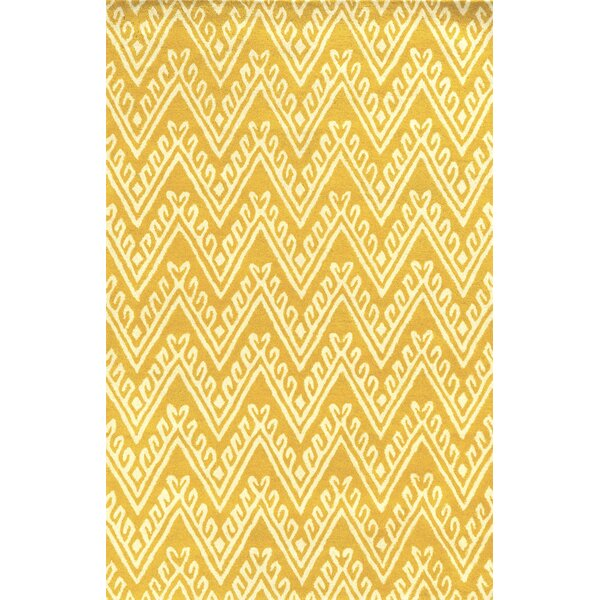Santo Hand-Tufted Yellow Area Rug by Meridian Rugmakers