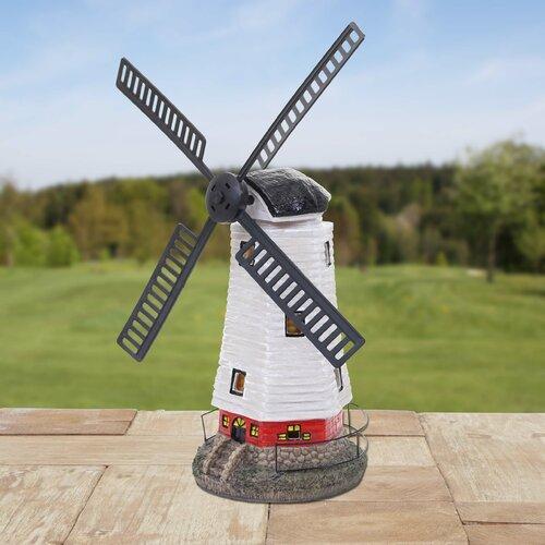 Windmühle Windrad Blume toller Hingucker für Ihren Garten 2x Windspiel