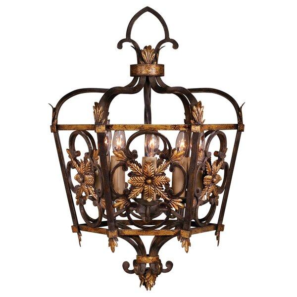 Castile 5 - Light Lantern Geometric Chandelier By Fine Art Lamps