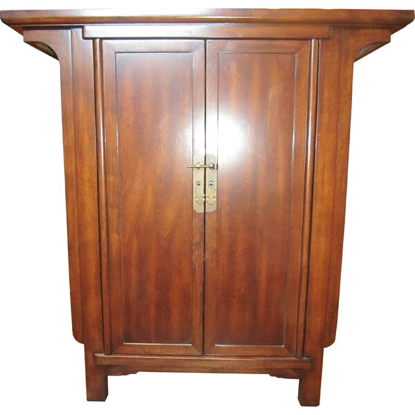 Frisbie Ming Narrow Console 2 Door Accent Cabinet by Bloomsbury Market Bloomsbury Market