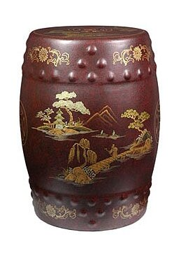 Imperial Heavens Garden Stool by Oriental Furniture