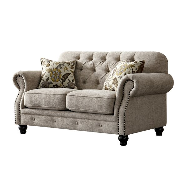 Recommend Saving Acanva Chesterfield Loveseat by Charlton Home by Charlton Home