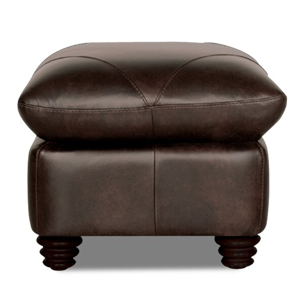Home & Outdoor Gardner Leather Ottoman