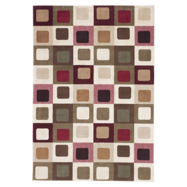 Power Loom Pink/Brown/Gray Area Rug by Signature Design by Ashley