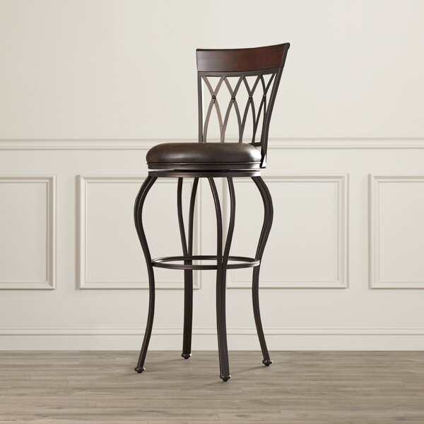 Fillmore 34 Swivel Bar Stool by Darby Home Co