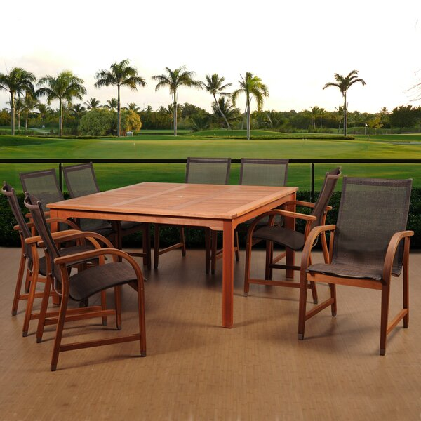 Best #1 Ely 9 Piece Dining Set By Beachcrest Home Sale