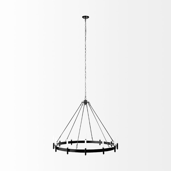 Schmid 12-Light Sputnik Modern Linear LED Chandelier By Everly Quinn