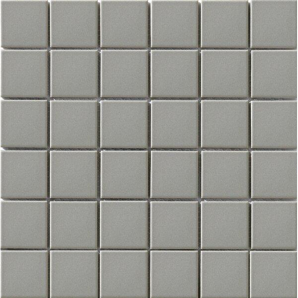 Vintage 2 x 2 Porcelain Mosaic Tile in Gray by Walkon Tile